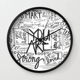 YOU ARE (IV- edition) Wall Clock