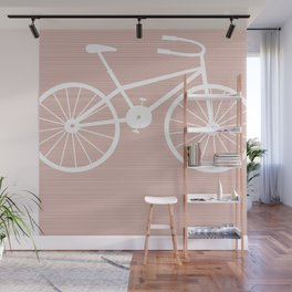 Pink Bike by Friztin Wall Mural