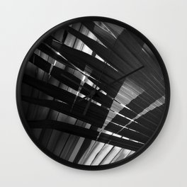 Abstract Palm Leaves 8 Wall Clock