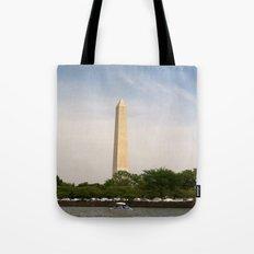 Paddling Up to the Washington Monument Tote Bag