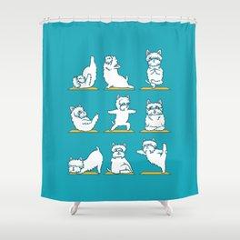 West Highland Terrier Yoga Shower Curtain