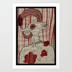my tongue. Art Print