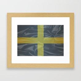 Silk Flag of Saint David Of Wales Framed Art Print