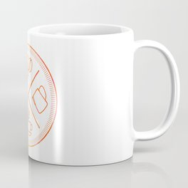 Four Elements of Cappuccino Pictogram Coffee Mug