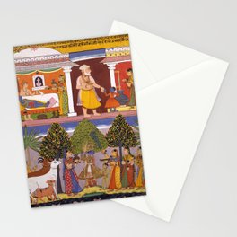 Scenes from the Childhood Krishna, from a Sur Sagar Manuscript Stationery Cards