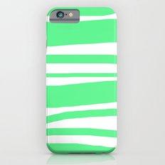 Mint Stripes iPhone 6s Slim Case
