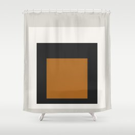 Block Colors - Black White Grey Ochre Shower Curtain