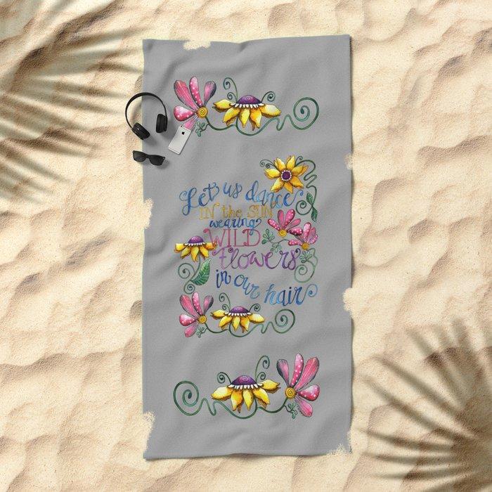 Let Us Dance II Beach Towel