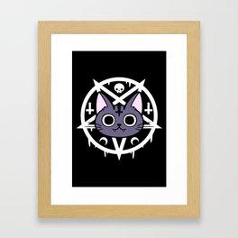 Black Meowgic 01 Framed Art Print