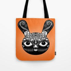 Day Of The Dead Bunny Tote Bag