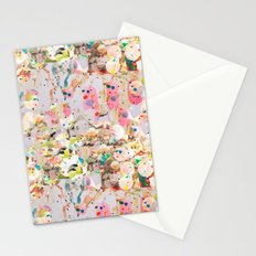 Abstract Springtime Watercolor Pattern Stationery Cards