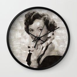 Barbara Stanwyck, Hollywood Legend Wall Clock