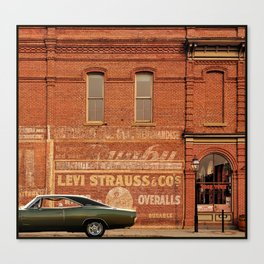 1968 Dodge Charger R/T - Levi Strauss & Co. Canvas Print