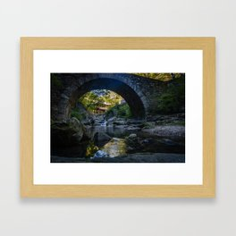Stone-Arched Bridge and Tower Framed Art Print