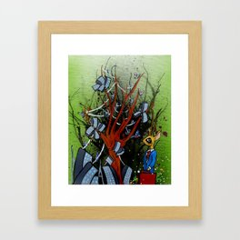 Nature and Industry as One. Framed Art Print