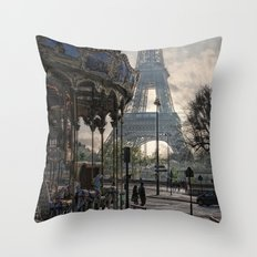 manège parisienne Throw Pillow