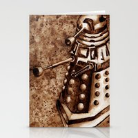 dalek Stationery Cards featuring Dalek by Redeemed Ink by - Kagan Masters
