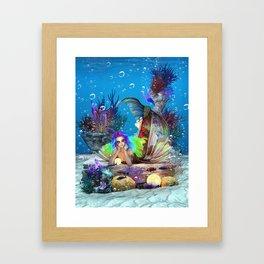 Bioluminescence Wonders Framed Art Print