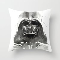 darth vader Throw Pillows featuring Darth Vader by Olechka