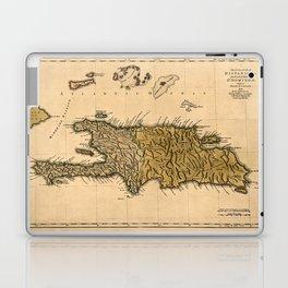 Map Of Hispaniola 1762 Laptop & iPad Skin
