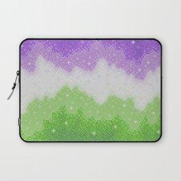 Genderqueer Pride Galaxy Laptop Sleeve