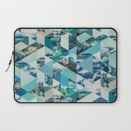 THE MOUNTAINS CALL - geometric photo collage Laptop Sleeve