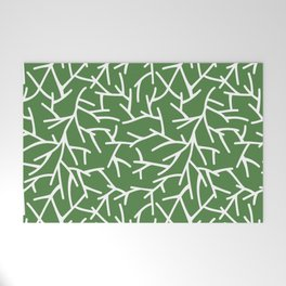 Branches - green Welcome Mat