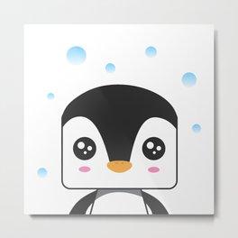 just jowi Kawaii cute baby penguin Metal Print