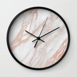 Marble Rose Gold - Am I Wrong Wall Clock