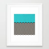 code Framed Art Prints featuring Follow the Sky by Bianca Green