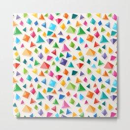 Paper Pyramid Metal Print