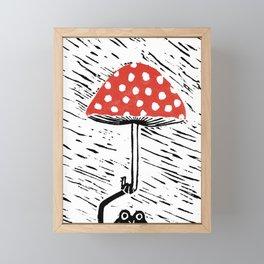 Mr. Frog's Umbrella Framed Mini Art Print