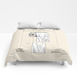 Toilet Paper Roll Patent Comforters