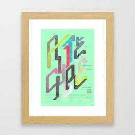 Autechre Oversteps Tour Poster Framed Art Print
