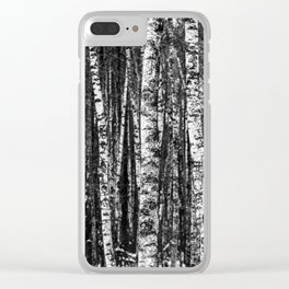 The Forest (Black and White Birch) Clear iPhone Case