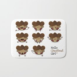 Chestnut Girl Mood Bath Mat