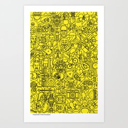 Pictogrammaton: 100 days 100 pictograms Art Print