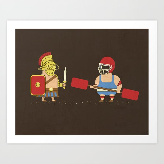 Gladiator Vs Gladiator Art Print