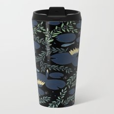 night waterlily Metal Travel Mug