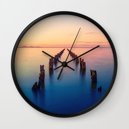 Old Pier Remains In Clifton Springs Victoria Australia Ultra HD Wall Clock