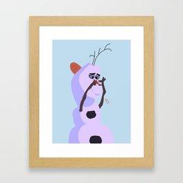 Little Baby Unicorn Framed Art Print