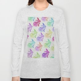 Watercolor Bunnies 1A by Kathy Morton Stanion Long Sleeve T-shirt