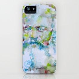 KARL MARX watercolor portrait.4 iPhone Case