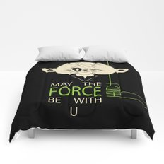 Starwars Yoda - May The Force Be With U Comforters