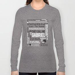 Supernatural - Gabriel Quotes Long Sleeve T-shirt