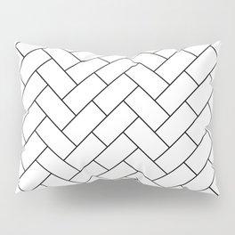 Traditional Herringbone - Black Pillow Sham