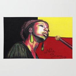 Nina Simone Painting Rug