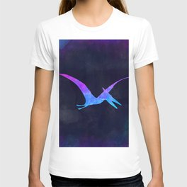 PTERODACTYL IN SPACE // Dinosaur Graphic Art // Watercolor Canvas Painting // Modern Minimal Cute T-shirt