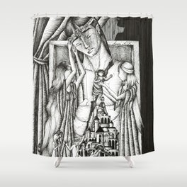 Rift in the house of Finwe Shower Curtain