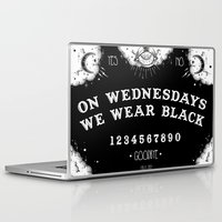 loll3 Laptop & iPad Skins featuring ☽ ON WEDNESDAYS WE WEAR BLACK ☾ by lOll3